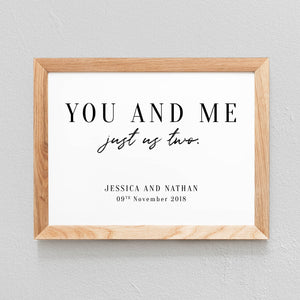 POSTER À PERSONNALISER CHAMBRE COUPLE 'YOU AND ME' - SEVEN PAPER