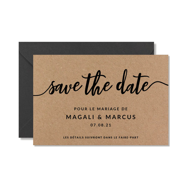 SAVE THE DATE CARTES ANNONCE DATE DE MARIAGE ORIGINALE - SEVEN PAPER