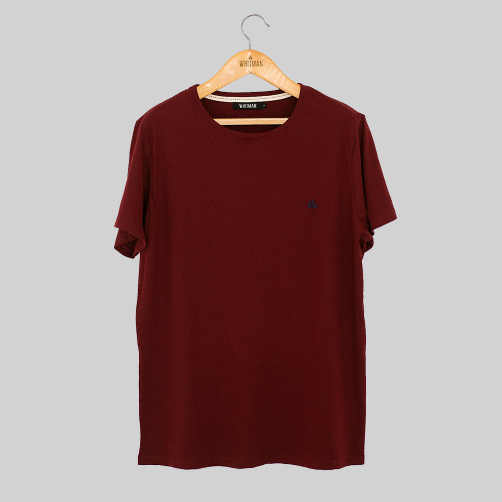 T-Shirt vino tinto bordado