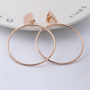 Simply Fashionable Hoop Clip Earrings