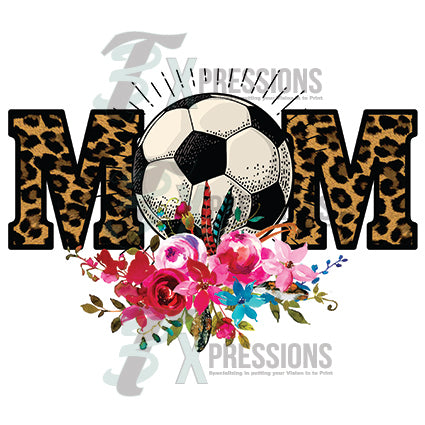 Leopard baseball mom - bling3t
