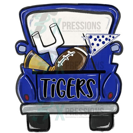 Personalized Blue football truck - bling3t