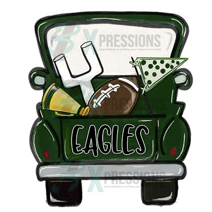 Personalized Forrest Green football truck - bling3t