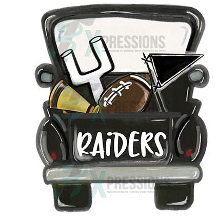Personalized Black Football Truck - bling3t