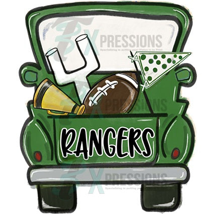 Personalized Green Football Truck - bling3t
