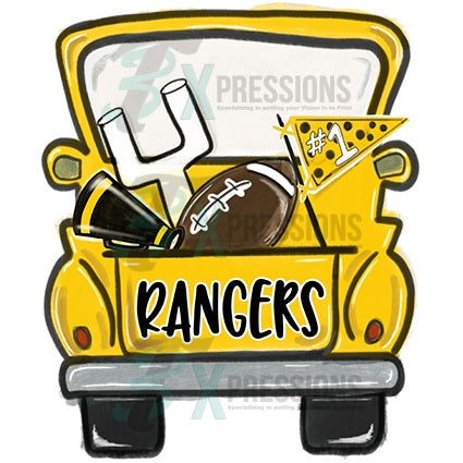 Personalized Yellow Football Truck - bling3t
