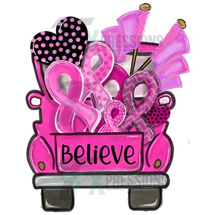 Believe Breast Cancer Awareness Truck - bling3t
