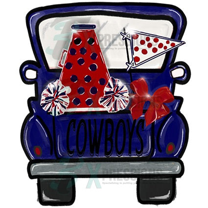 Personalized Red and Blue Cheer Truck - bling3t