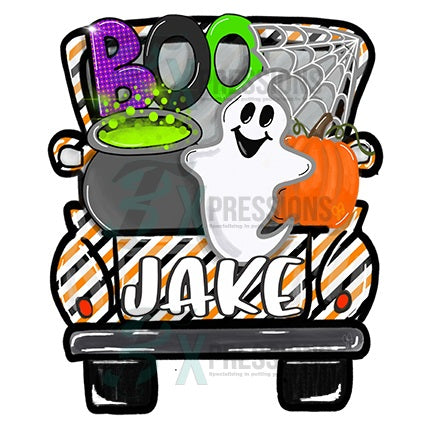 Personalized Boo Halloween Truck - bling3t