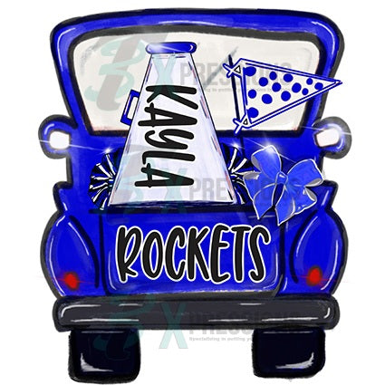 Personalized Blue Cheer Truck - bling3t