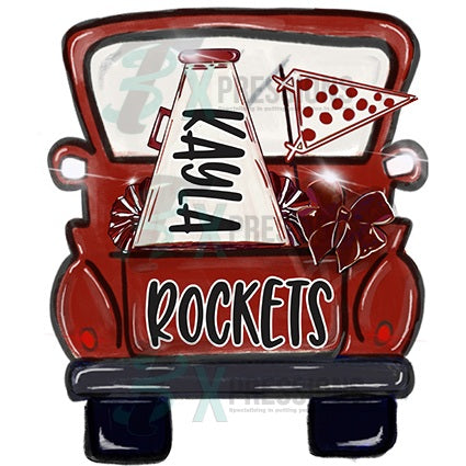 Personalized Cheer Truck - bling3t