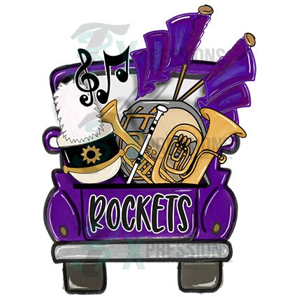 Personalized Purple Band Truck - bling3t