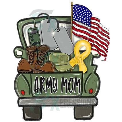 Personalized Army Truck - bling3t