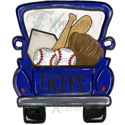 Personalized Blue Baseball Truck - bling3t