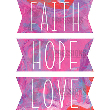 Faith Hope Love Watercolor Background - bling3t
