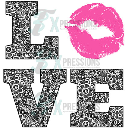 Black Lace Love, Pink Lops - bling3t