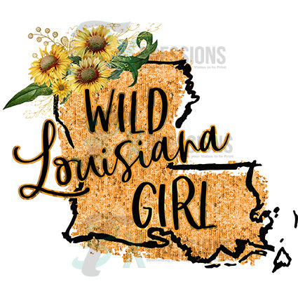 Water Color Wild Louisiana Girl - bling3t
