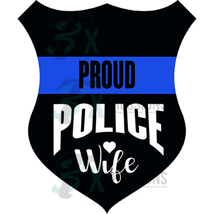 police badge proud wife - bling3t