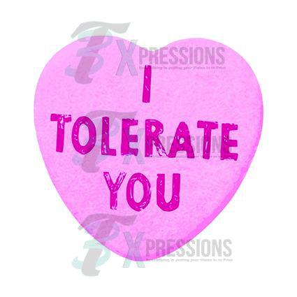I tolerate you - bling3t