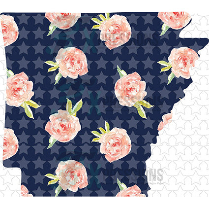 Arkansas Navy Floral - bling3t