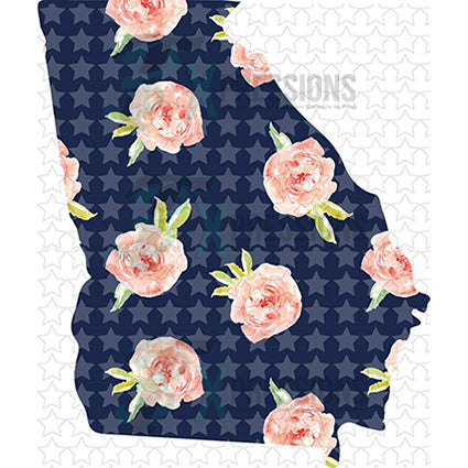Georgia Navy Floral - bling3t