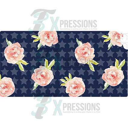Kansas Navy Floral - bling3t