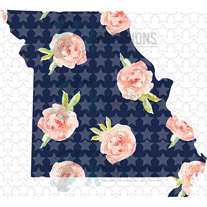Missouri Navy Floral - bling3t