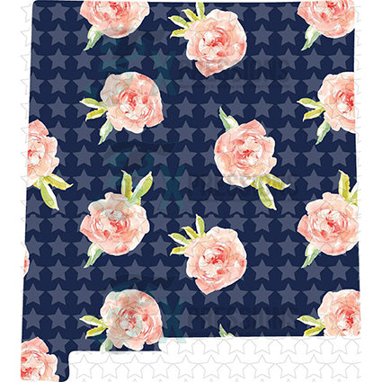 New Mexico Navy Floral - bling3t