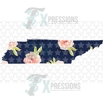 Tennessee Navy Floral - bling3t