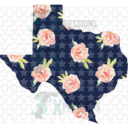 Texas Navy Floral - bling3t