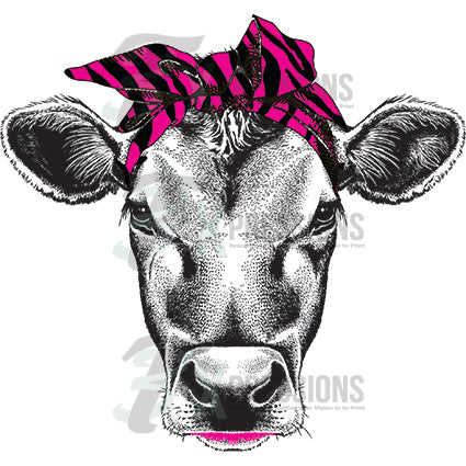 Cow- pink zebra - bling3t