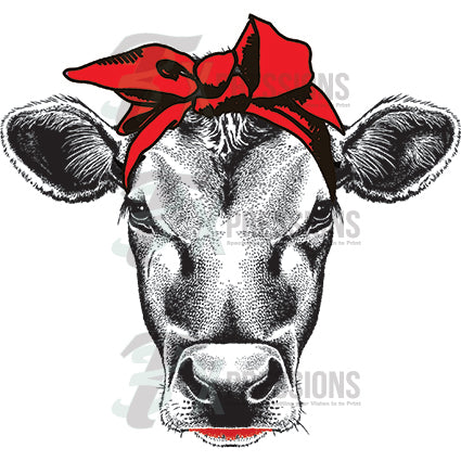 Cow- Red scarf - bling3t