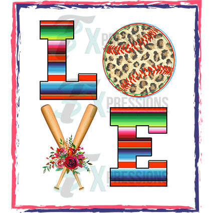 love baseball serape - bling3t