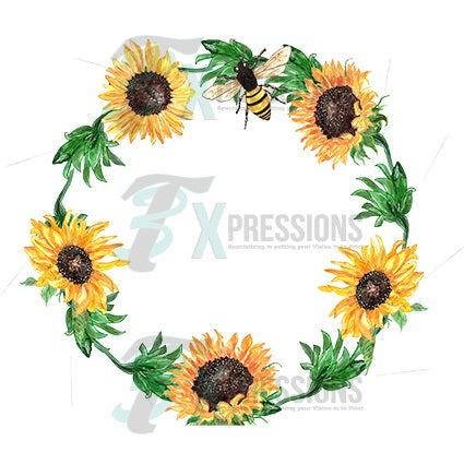 Sunflower Floral Wreath - bling3t