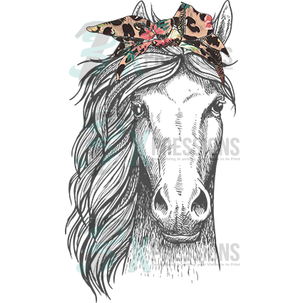 Leopard floral headband horse - bling3t