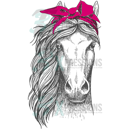 pink headband horse - bling3t