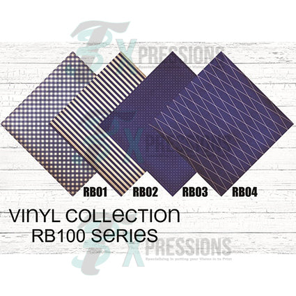 Blue and Gray Patterned Vinyl - bling3t