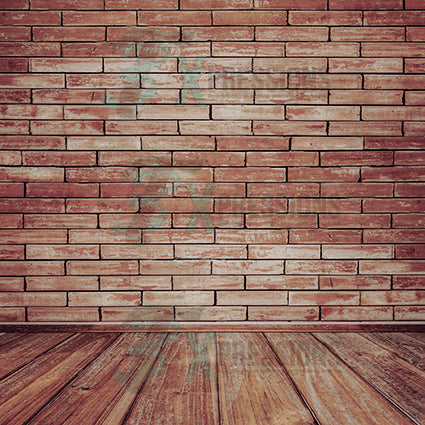 Distressed Red brick Backdrop