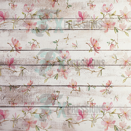 Floral Shiplap Background