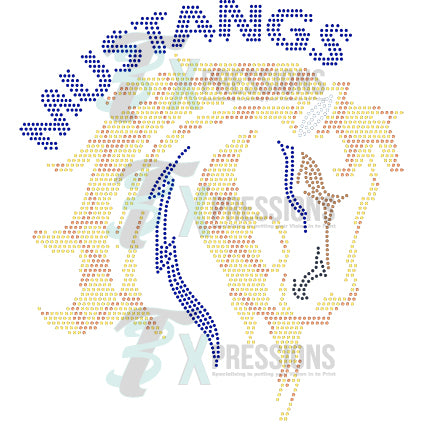 MUSTANGS FACE - bling3t