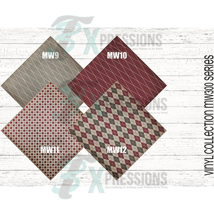Maroon and Gry Patterned Vinyl 2 - bling3t