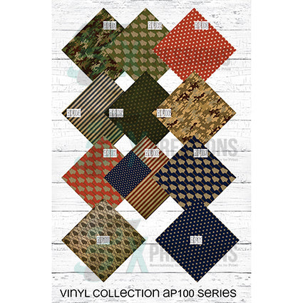 Patriotic and Camo Vinyl Patterns - bling3t