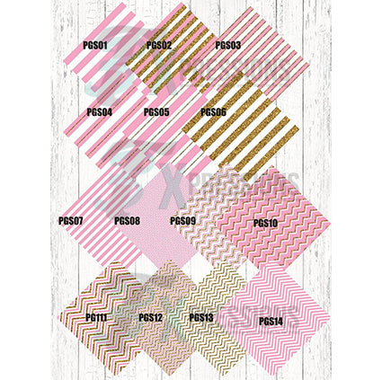 Pink and Gold Patterned Vinyl - bling3t