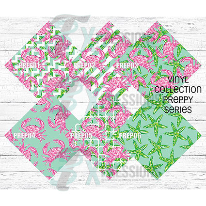 Preppy Pattern Vinyl - bling3t