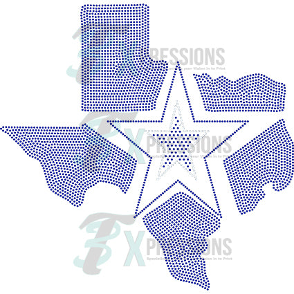TX STATE STAR - bling3t
