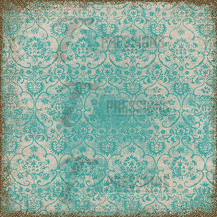 Teal Stamped Paper Backdrop