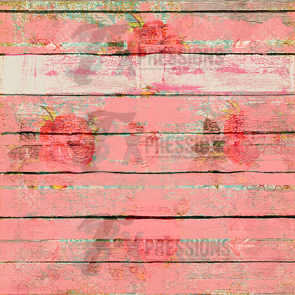 Worn out wood floral stamped Backdrop