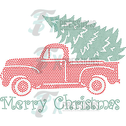 merry christmas truck - bling3t