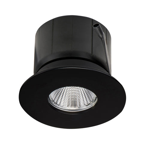 HCP-8121204- Black Flush Fixed 12w TRI Colour Recessed LED Downlight