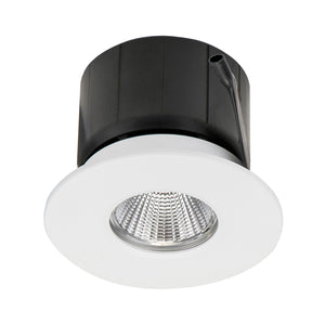 HCP-8131204- White Flush Fixed 12w TRI Colour Recessed LED Downlight